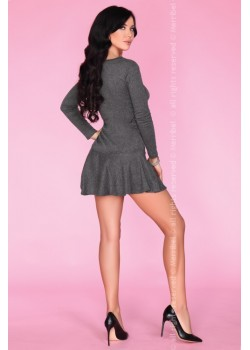 Секси мини рокля в сиво CG022