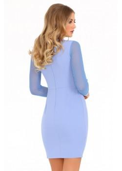 Елегантна рокля Nisamina в син цвят