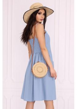 Ежедневна рокля в син цвят Akminas