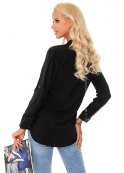 Дамска риза в черен цвят Blandinea