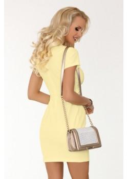 Елегантна рокля Matiria в жълт цвят