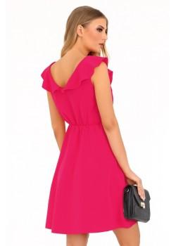 Елегантна рокля Annag в цвят фуксия