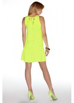 Ежедневна мини рокля в жълто Nixolna