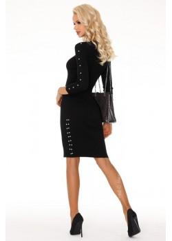 Елегантна миди рокля в черно Joandri