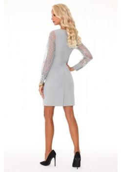 Елегантна мини рокля в сив цвят