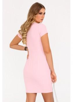 Елегантна рокля Matiria в розов цвят
