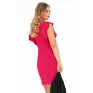 Елегантна рокля Marjoleina в цвят фуксия