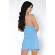 Секси нощница с бикини в синьо Manoka