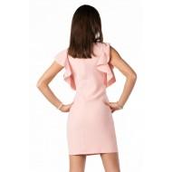 Елегантна рокля Marjoleina в цвят пудра