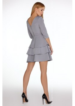 Елегантна мини рокля в сиво Reethan