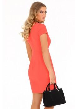 Елегантна рокля Matiria в цвят корал