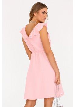 Елегантна рокля Annag в цвят пудра