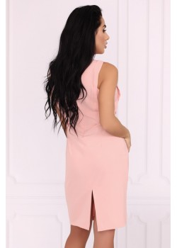 Елегантна рокля Viran в цвят пудра