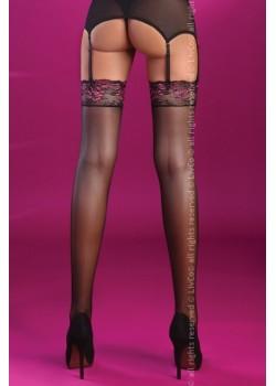 Дамски дълги чорапи в черно Malati