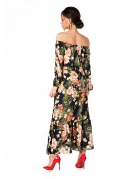 Красива дълга рокля Meklita с десен на цветя