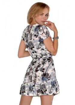Ефирна рокля Meletri  в сив цвят