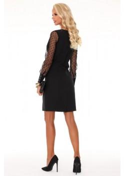 Елегантна мини рокля в черен цвят