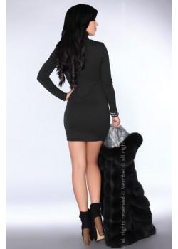 Елегантна мини рокля в черен цвят Agelita