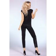 Елегантна дамска пижама в черно Siona