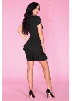 Елегантна къса рокля в черен цвят