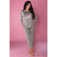 Дамска сива пижама от две части MODEL 106