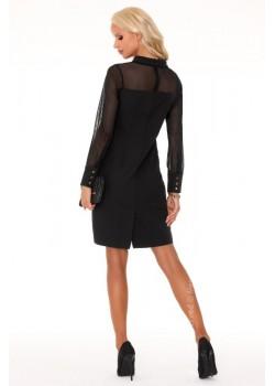 Елегантна мини рокля в черно Venetiana