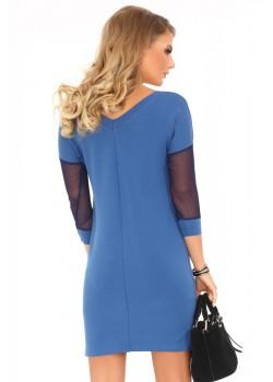 Памучна рокля Betanisa в син цвят