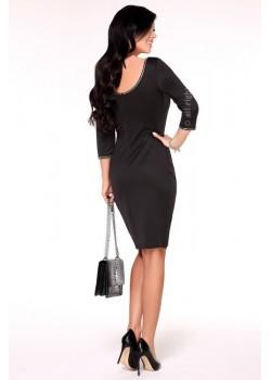 Елегантна миди рокля в черно Arleen