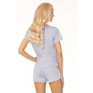 Памучна дамска пижама в сиво Aghavni