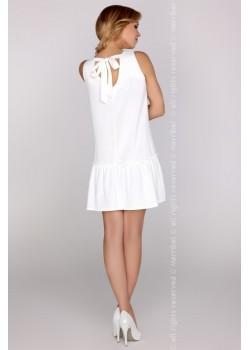 Ежедневна мини рокля в бяло Nixolna