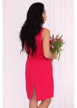 Елегантна рокля Viran в цвят фуксия
