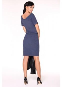 Ежедневна миди рокля в синьо Roxie