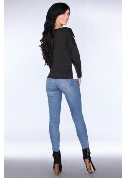 Елегантна дамска блуза в черно CG004