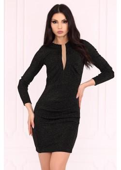 Елегантна рокля в черен цвят Aporva