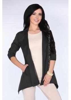 Асиметрично дамско сако в черно CG026