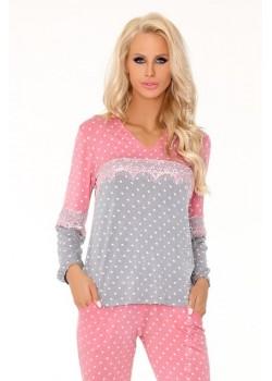 Дамска пижама от две части в розово Mayte