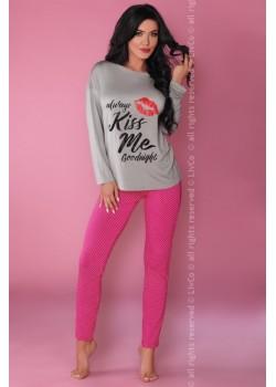 Дамска пижама с принт MODEL 108