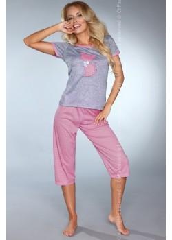 Дамска пижама в розов цвят