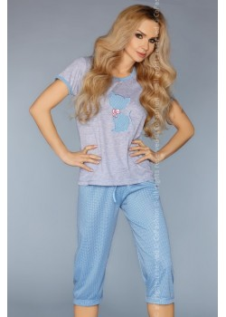 Дамска пижама в син цвят