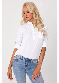 Дамска риза в бял цвят Blandinea