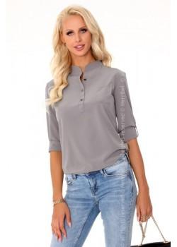 Дамска риза в сив цвят Blandinea