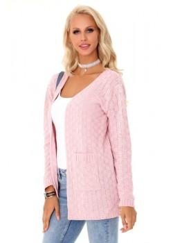 Дамска жилетка в розов цвят Milamin