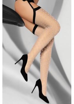 Дамски дълги чорапи в бежово Kreine 20 DEN