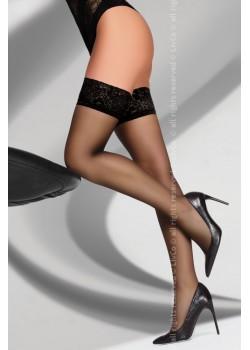 Дамски дълги чорапи в черно Kornelie 20 DEN
