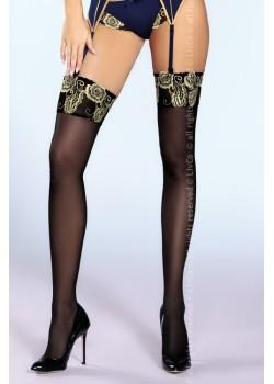Дамски дълги чорапи в черно Scarlett