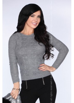 Дамски пуловер в сив цвят Sadila