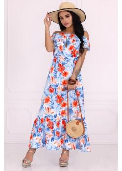 Дълга рокля Kelila  с десен на цветя