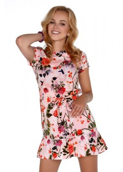 Ефирна рокля Meletri  в розов цвят