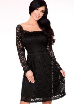 Елагантна миди рокля в черно Caramia
