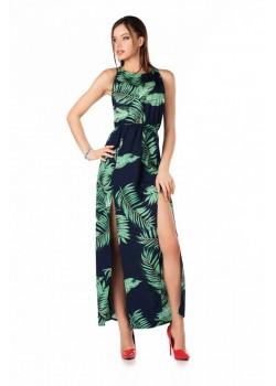 Елегантна дълга рокля в зелено Brianna